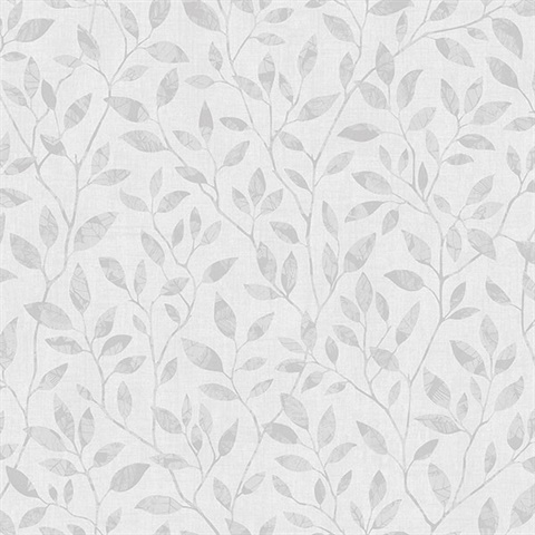 Willow Light Grey Silhouette Trail Wallpaper