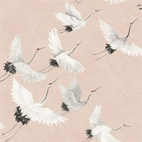 Windsong Pink Bird Wallpaper