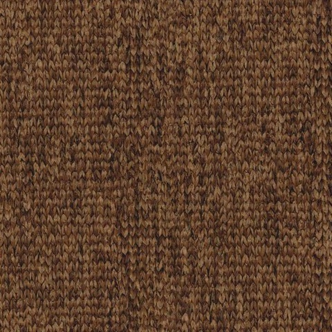 Dark Brown Woven Mat Wallpaper