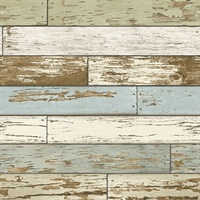 Levi Green Scrap Wood Wallpaper