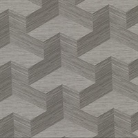 Y Knot Grey Geometric Texture Wallpaper