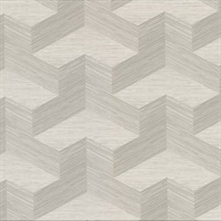 Y Knot Light Grey Geometric Texture Wallpaper