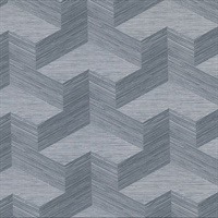 Y Knot Slate Geometric Texture Wallpaper