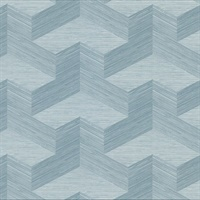 Y Knot Turquoise Geometric Texture Wallpaper