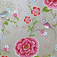 Yuma Khaki Birds in Paradise Wallpaper