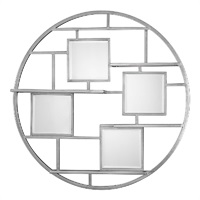 Zaria Mirrored Round Wall Shelf