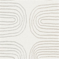 Zephyr Grey Abstract Stripe Wallpaper