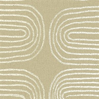Zephyr Honey Abstract Stripe Wallpaper