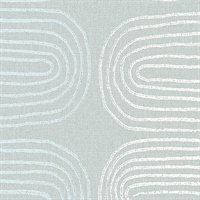 Zephyr Light Blue Abstract Stripe Wallpaper