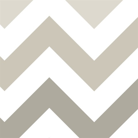 Taupe Zig Zag Peel & Stick Wallpaper